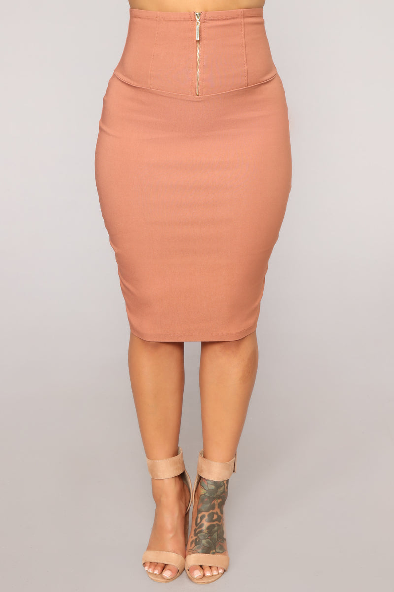 Schedule Me In Skirt - Dark Mauve