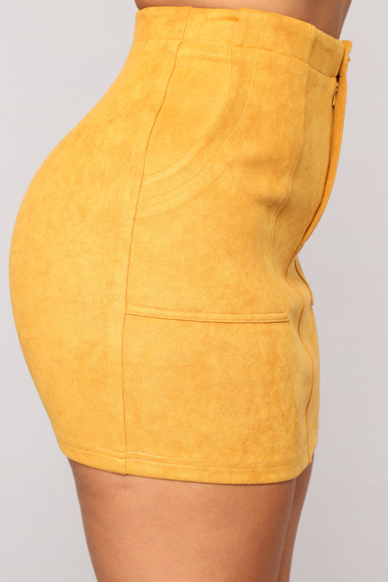 Love This Mini Skirt - Mustard