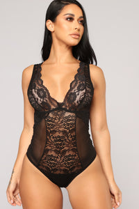 You Are The One Lace Teddy - Black