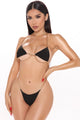 Chain Reaction 2 Piece Bikini Sunsuit - Black