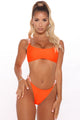 Scuba Beaches Chain 2 Piece Bikini - Neon Orange
