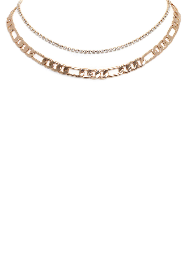 Baby Baby Layered Necklace - Gold