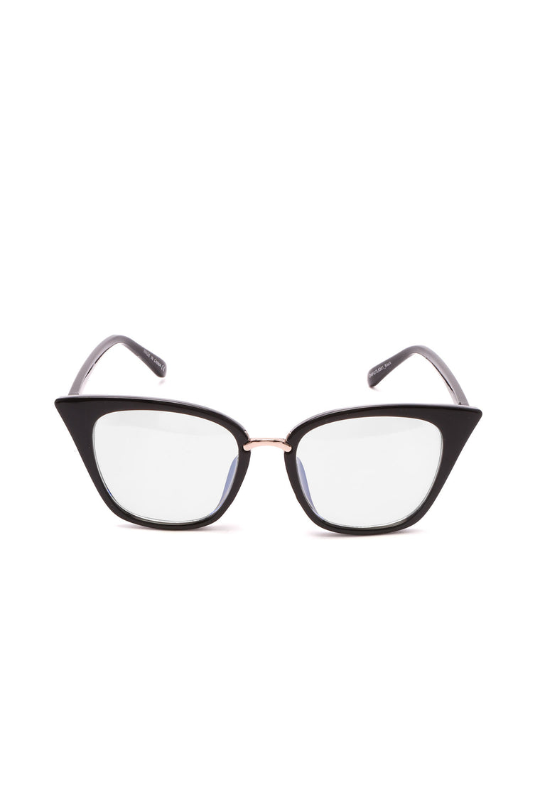 Not Concerned Clear Lens Glasses - Black
