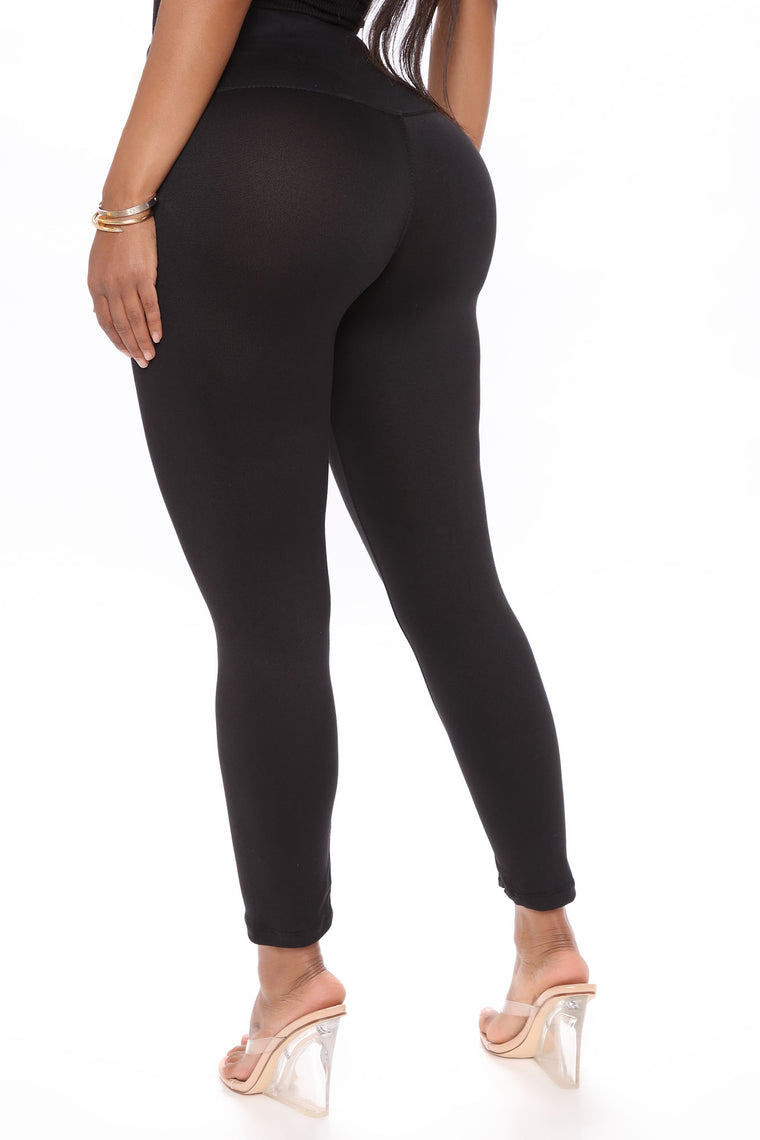 Leyla 2 Pack Capri Legging - Black