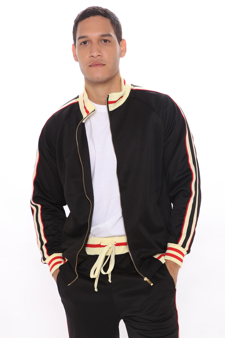 Charlie Track Jacket - Black