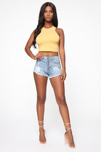 All Or Nothing Crop Top - Yellow Angle 2