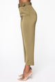 Irene Belted Crop Pants - Olive