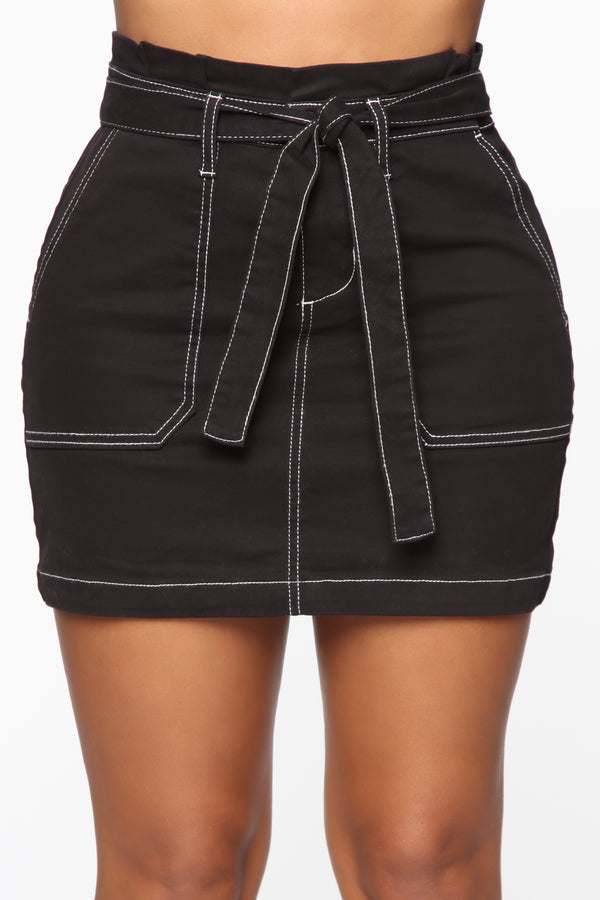 ba7ac0b7d7b Sorry All Tied Up Mini Skirt - Black