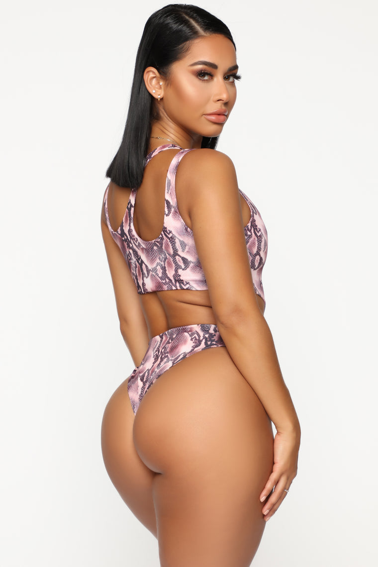 Sea You Later Swimsuit - Brown/Combo