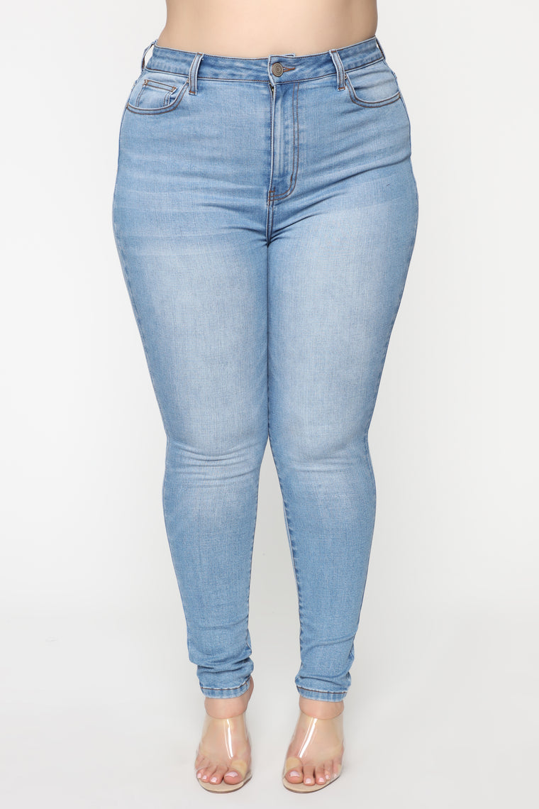 Pour Me A Glass Skinny Jeans   Light Blue Wash by Fashion Nova