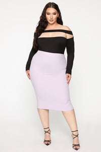 Always On Point Midi Skirt - Lilac Angle 7