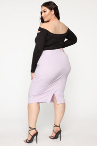 Always On Point Midi Skirt - Lilac Angle 11
