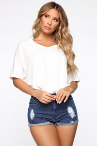 Give Me Tea Oversized Tee - Ivory