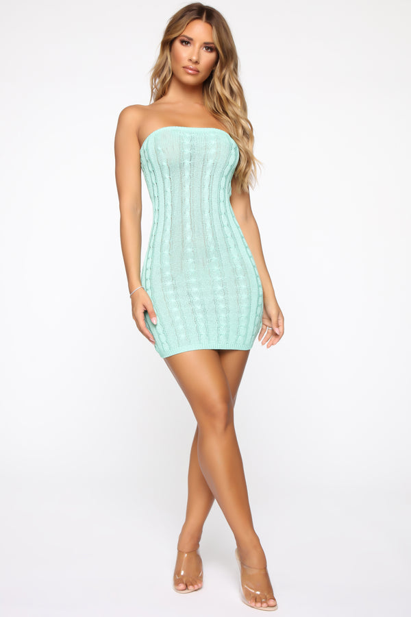 7fb986659107 Tell Me More Tube Mini Dress - Mint