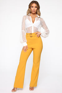 Leonore Balloon Sleeve Top - Ivory Angle 2