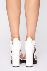 In Exchange Heeled Sandal - White
