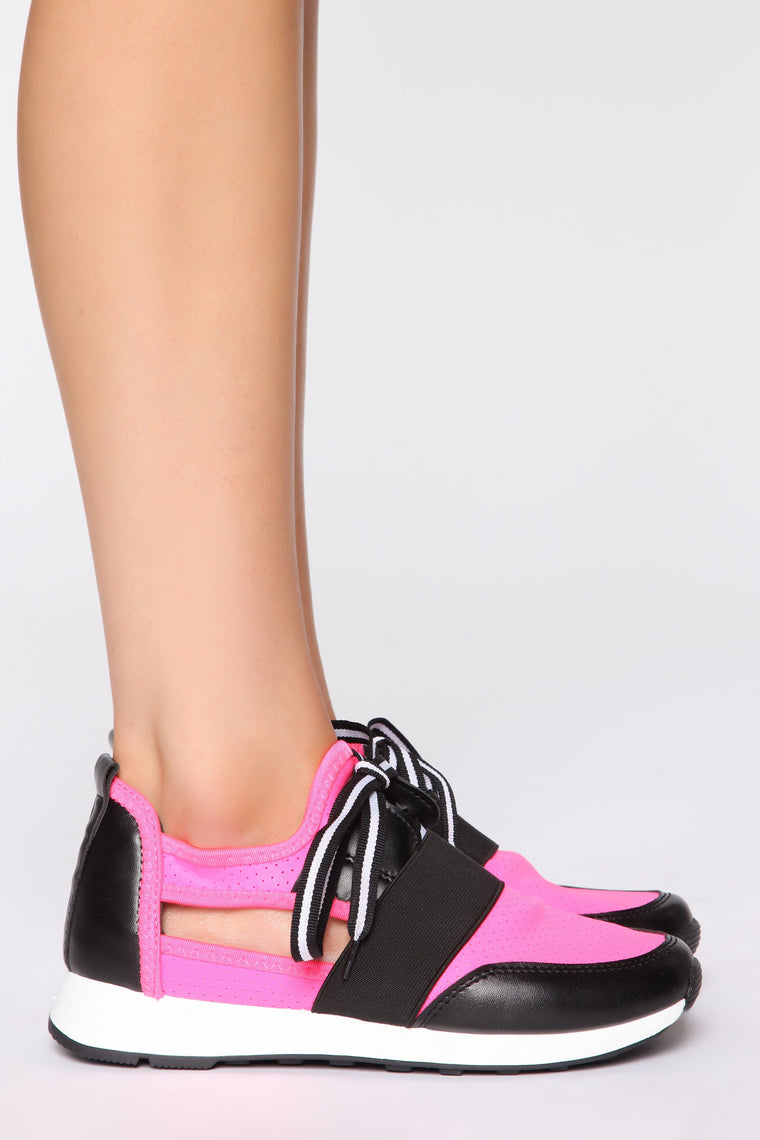 The Other Side Sneaker - Neon Pink