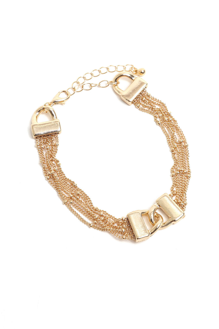 Just Us Two Bracelet - Gold