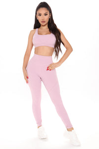 Good Energy Leggings In Power Flex - Pink Angle 1