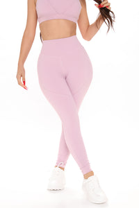 Good Energy Leggings In Power Flex - Pink Angle 2