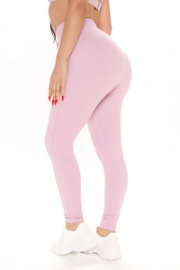 Good Energy Leggings In Power Flex - Pink Angle 4