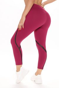 All In Your Head Active Leggings - Wine Angle 4