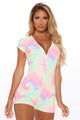 Tie Dye Dreams PJ Romper Onesie - Multi Color