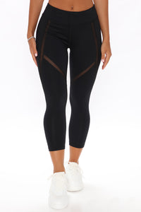Don't You Worry Active Leggings - Black Angle 2