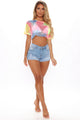 Bubble Gum Baddie Fishnet Top - Multi Color