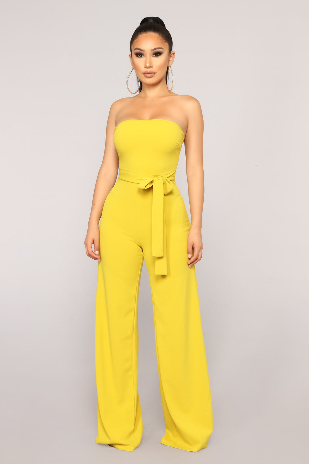 Not In The Mood Tube Jumpsuit - Mustard