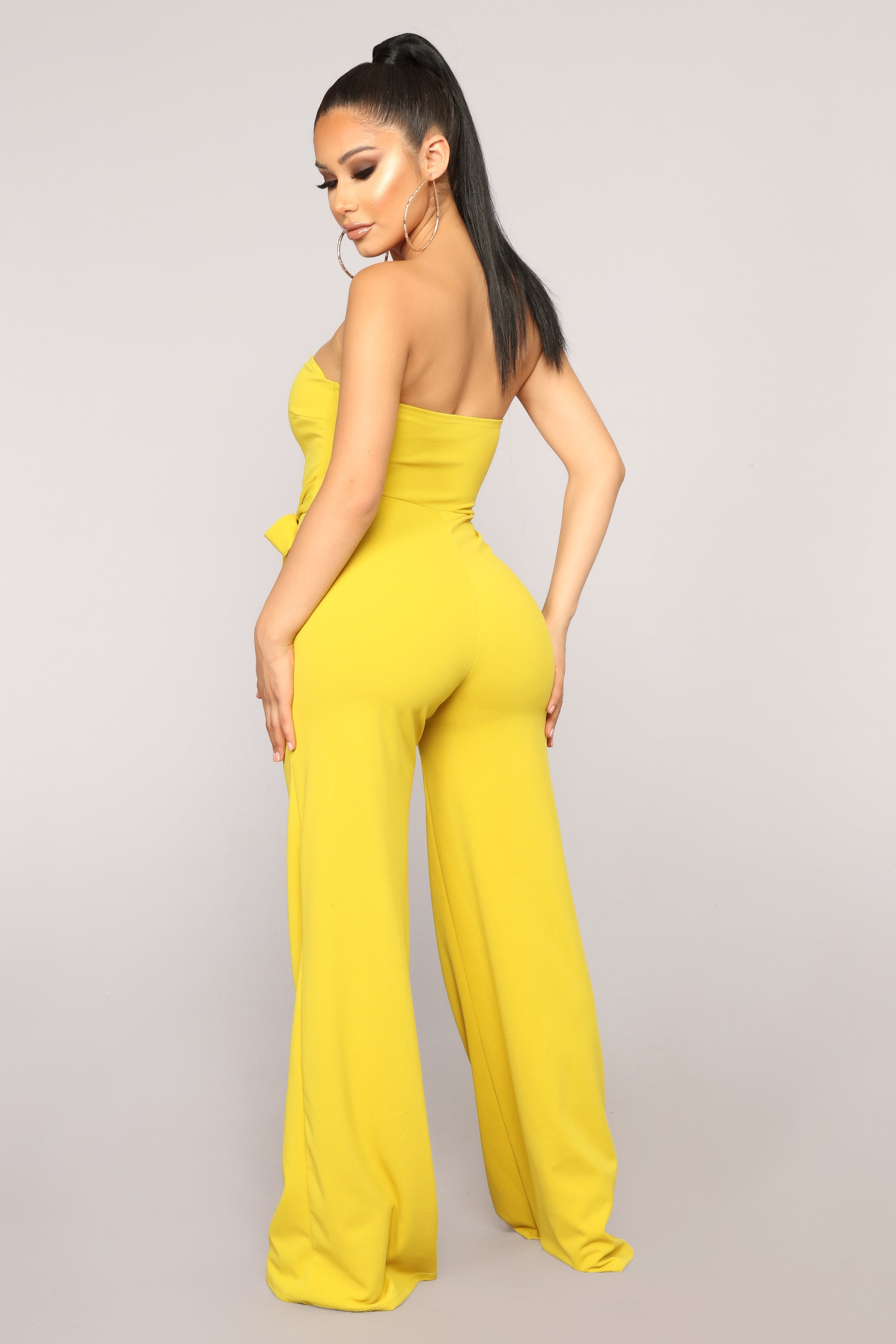 eea712a9b56 Not In The Mood Tube Jumpsuit - Mustard