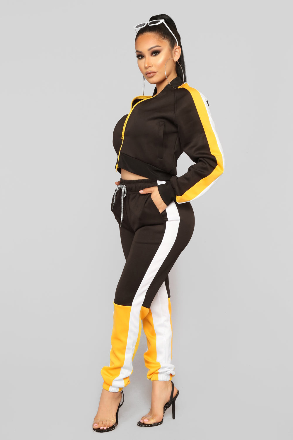 Dayana Active Set - Black/Yellow