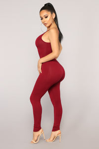 Nova Season Jumpsuit - Burgundy