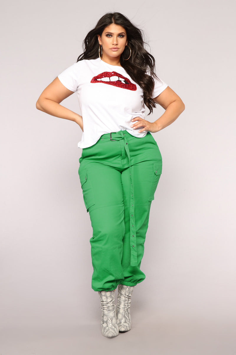 Cargo Chic Pants - Green