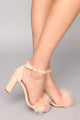 Feather Frenzy Heel - Blush