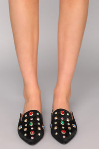 Jewel Jealousy Flat - Black