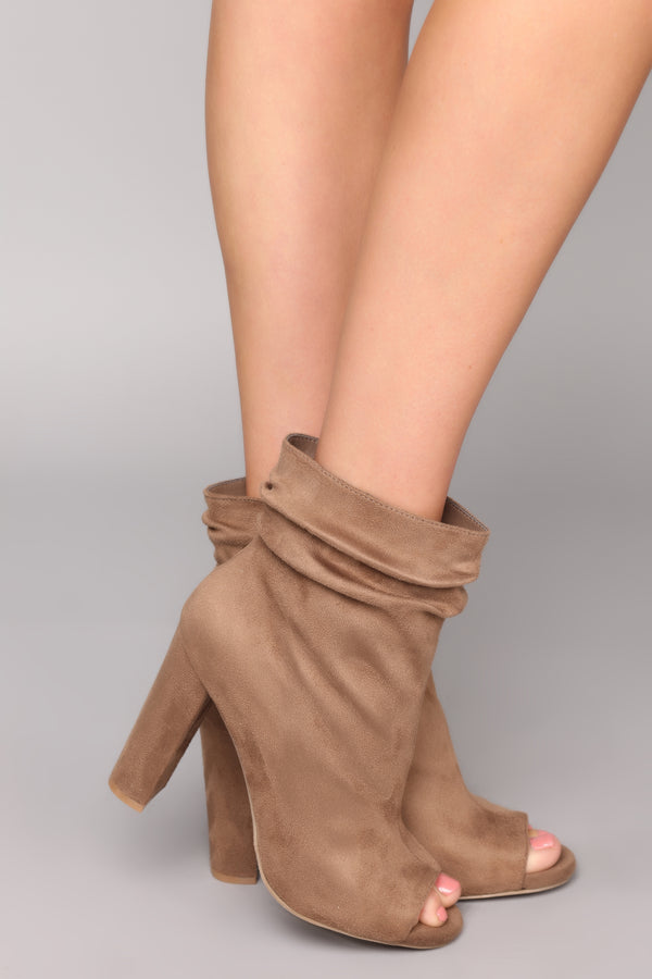 28a4d97e31b8 Classy And Sassy Bootie - Taupe