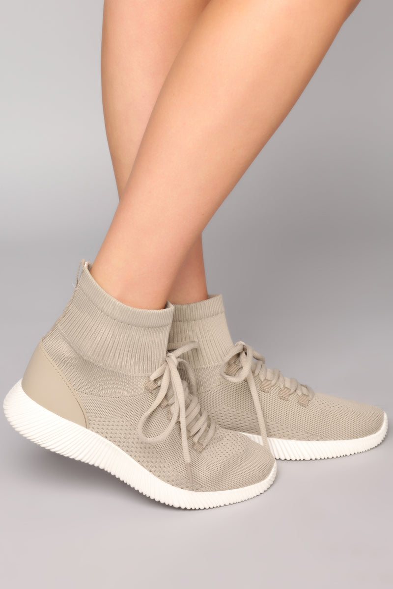 Skye High Top Sneaker - Taupe