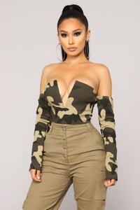Moody Duty Crop Top - Camoflauge
