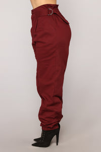 Do It Myself Cargo Pants - Wine