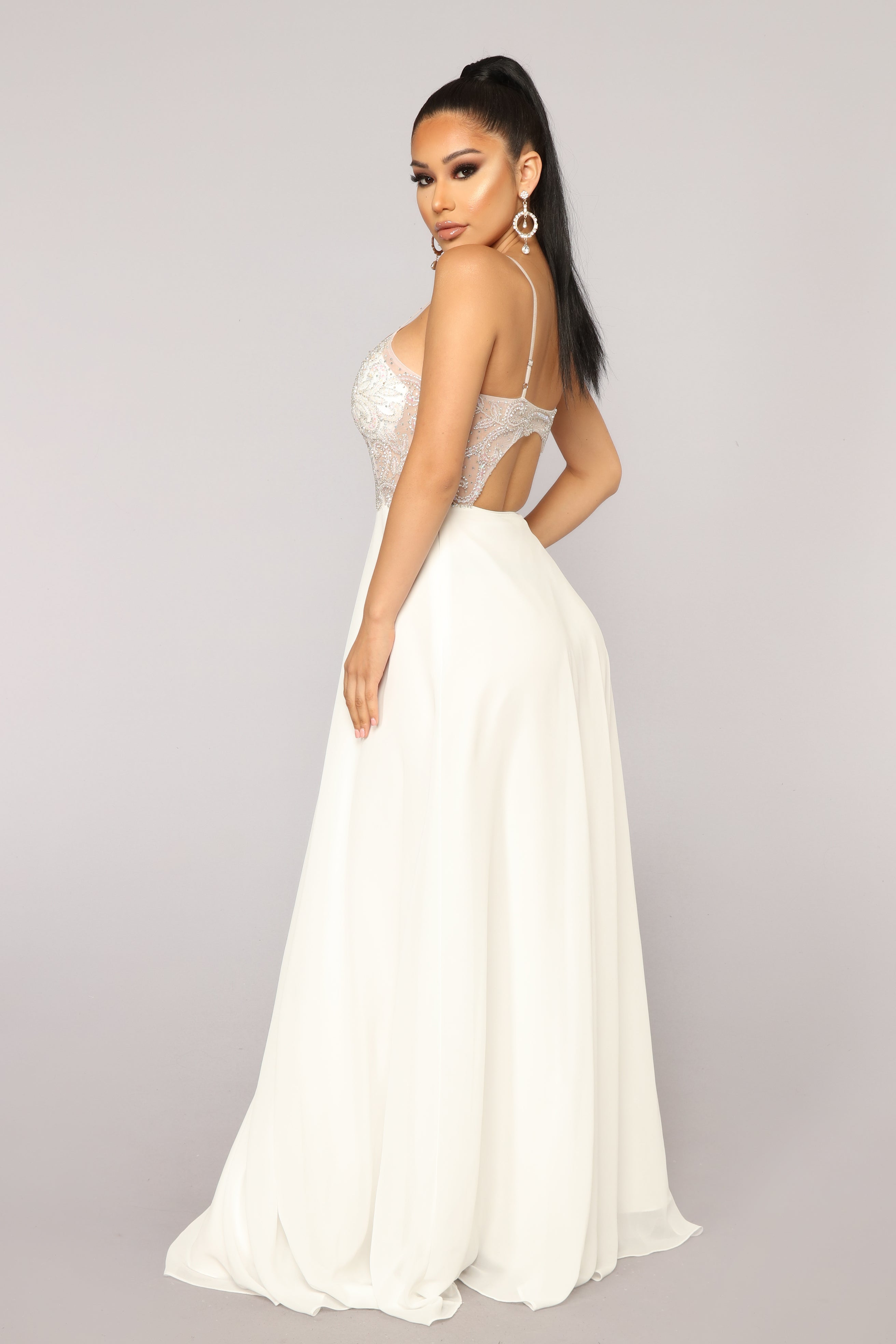 acc404fba1c Evening In Milan Embroidered Dress - Off White