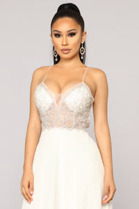 Evening In Milan Embroidered Dress - Off White