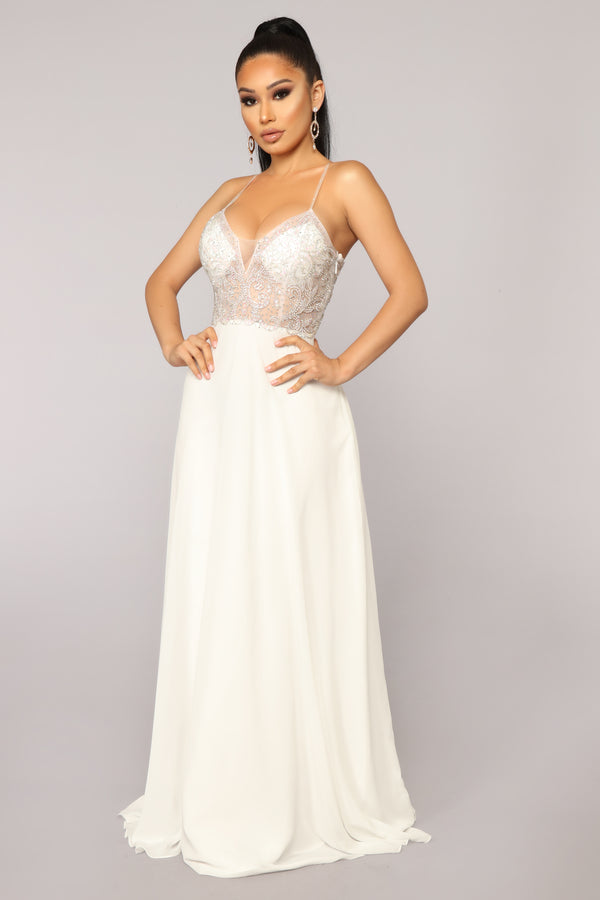 de4464908df Evening In Milan Embroidered Dress - Off White