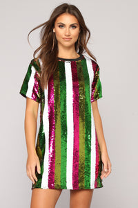 Zany Sequin Tunic - Multi