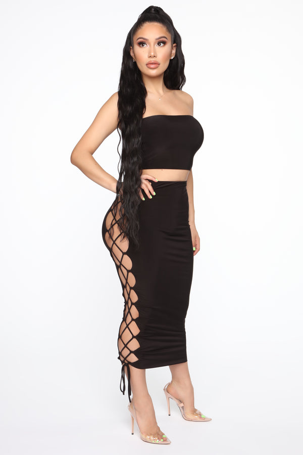 a5162c116e1 Kylah Skirt Set - Black