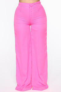 Fashion Forward Pant Set - Hot Pink