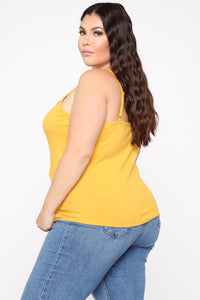 Fall For Me Top - Mustard