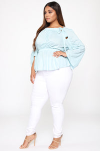 In Touch With Love Top - Blue