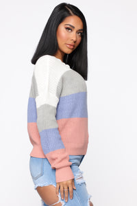 On The Way Sweater - Ivory/combo Angle 3