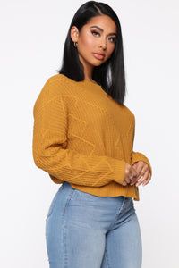 On A Break Sweater - Mustard